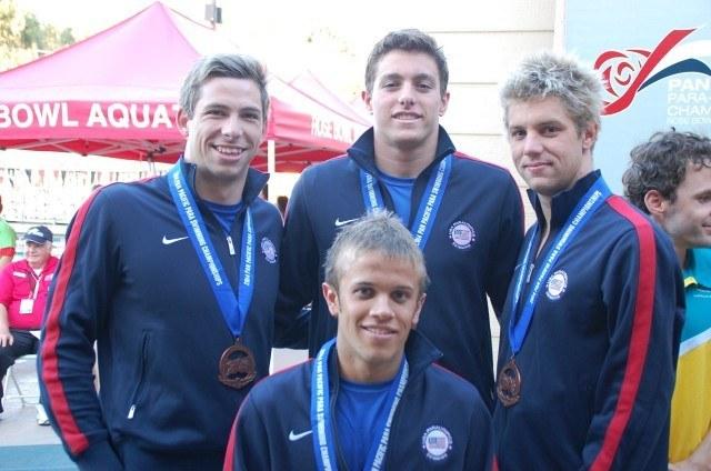 USA Men's 400m 34pt free relay. Photo: Anne Lepesant