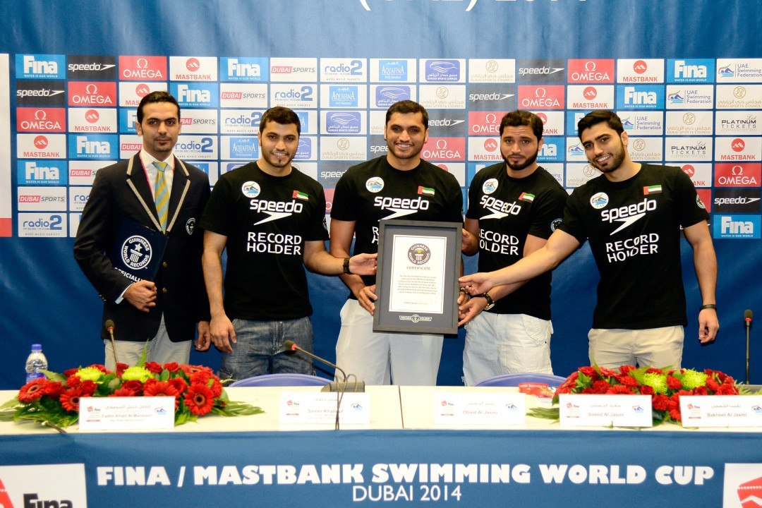 Guiness Recognizes UAE Swimmers For First Relay of Its Kind at World Championships