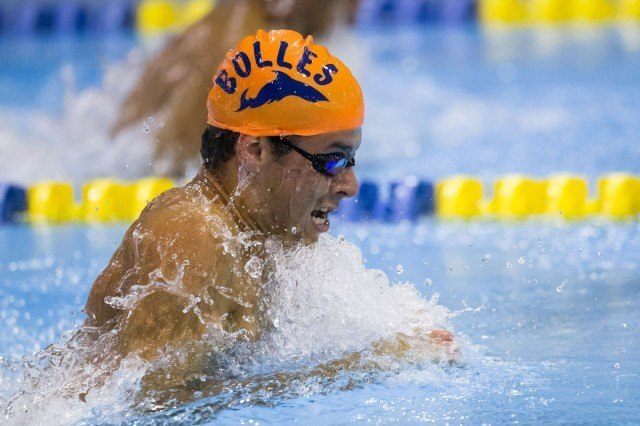 Marijn Van Zundert now swims at Indiana, but he came all the way to the U.S. from the Netherlands to be a Bolles Shark. (Courtesy: Tim Binning/TheSwimPictures.com)