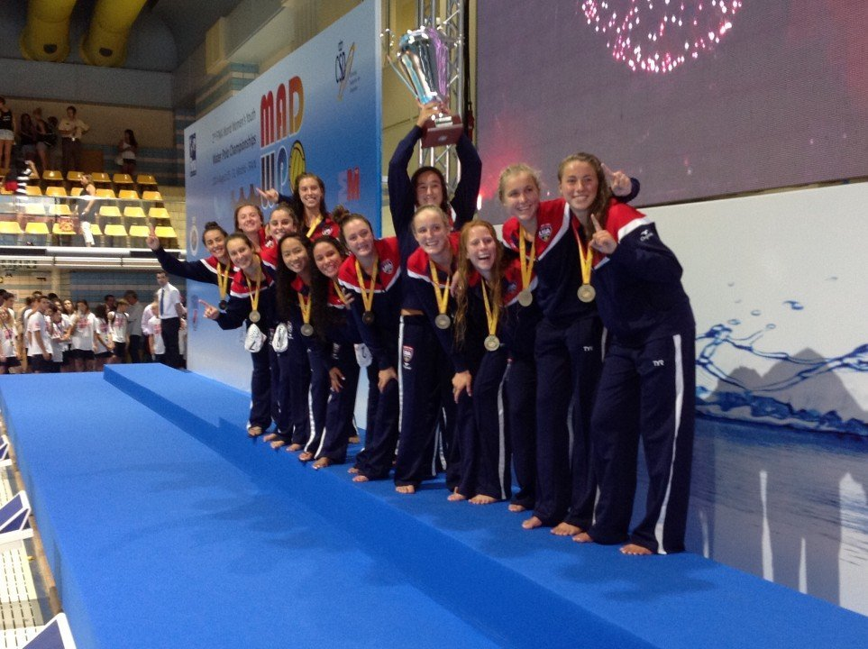 Water Polo: Team USA tops Canda 5-4 at the FINA Youth World Championship