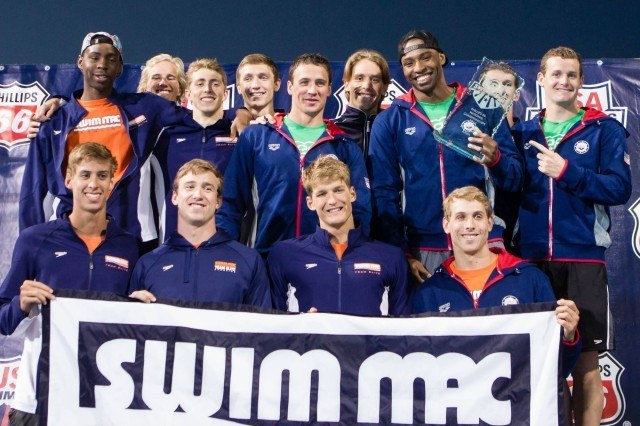 The SwimMAC men are were also team champions at U.S. Nationals.