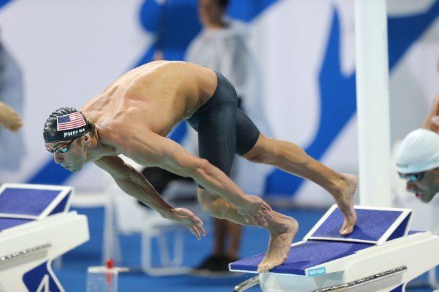 Michael Phelps, 2014 Pan Pacific Championships (courtesy of Paul Younan)