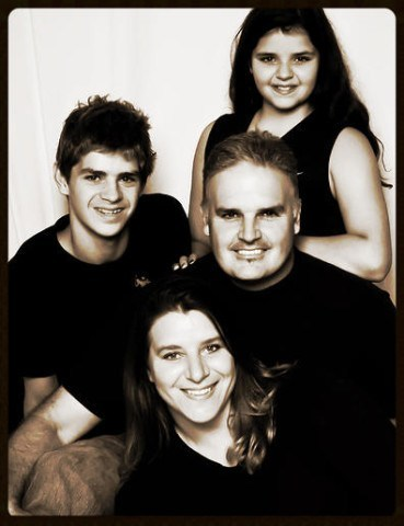Team Andrew / Indie Swimming (left to right): Michael,Tina, Peter & Michaela Andrew.