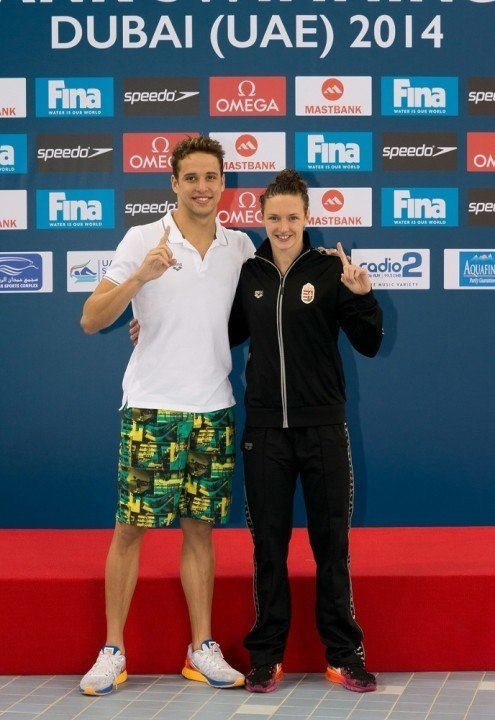 Hosszu and Le Clos repeat as FINA World Cup Champions for 2014