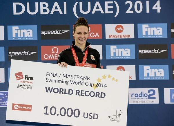 Katinka Hosszu - FINA Mastbank Swimming World Cup 2014 Dubai