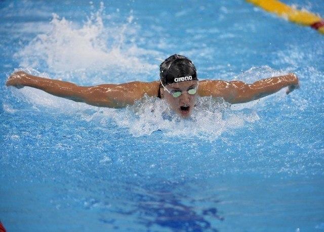 Katinka Hosszu HUN Hungary 200 butterfly women FINA Mastbank Swimming World Cup 2014 Dubai, UAE  2014  Aug.31 th - Sept.1st Day2 - Sept.1  heats Photo G. Scala/Deepbluemedia