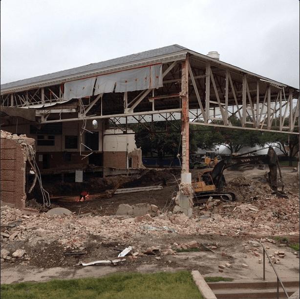 SMU Demolishes Legendary Perkins Natatorium