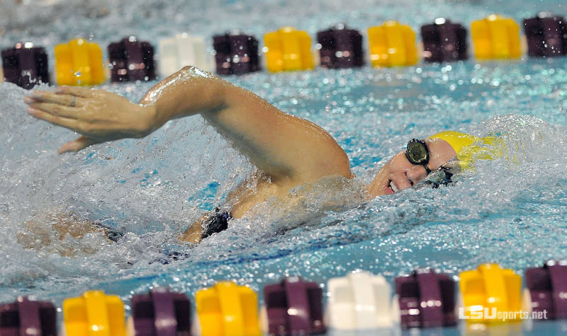 LSU men and women roll through SMU in dual meet