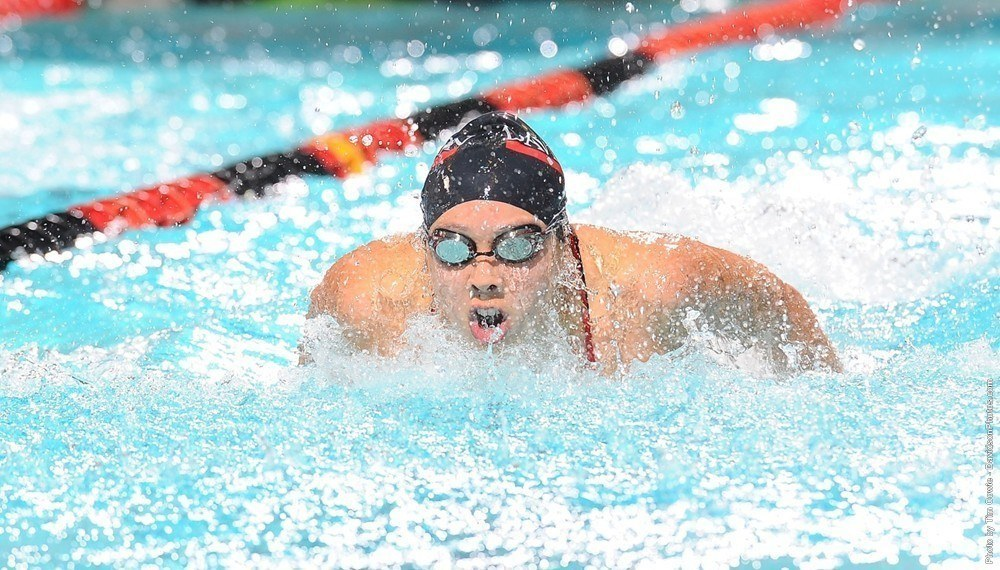 Elise Lankiewivz Wins Three Individuals as Davidson, East Carolina Split Co-Ed Duals