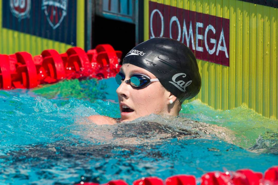 Cal women smash American, US Open, NCAA records in 800 free relay with 1:40 anchor from Missy Franklin