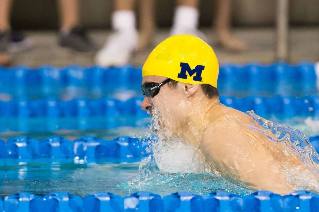 Breaststrokers Smith and Funk Earn Big Ten Swimmers of the Week Awards