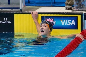 Lauren Perdue earned her Olympic rings as a member of the 800 free relay at the 2012 Olympic Games.