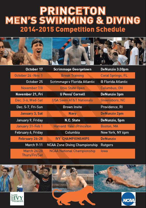 Princeton men 2014-15 schedule