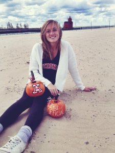Taylor Garcia has made a fall-themed commitment to the University of Arizona. Courtesy: Shawnda Garcia
