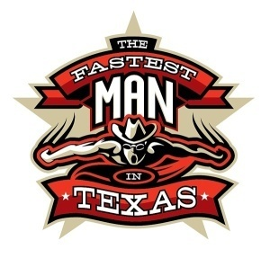fastest man in texas, logo
