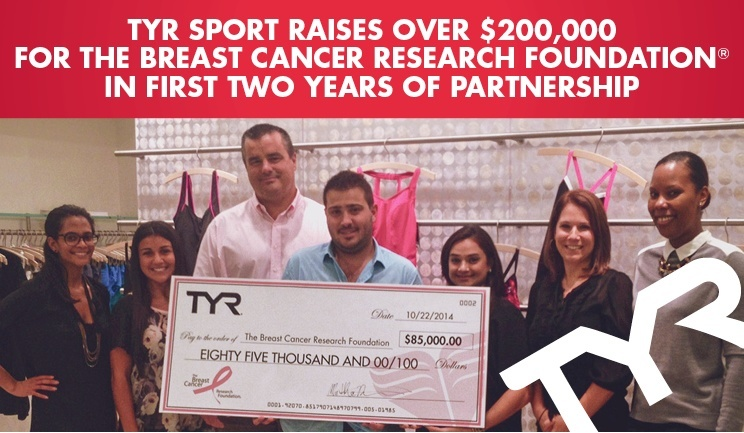 TYR Sport Raises Over $200,000 For The Breast Cancer Research Foundation