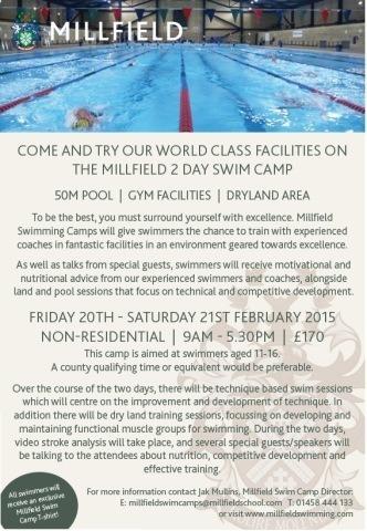 2015 Millfield Swim Camps