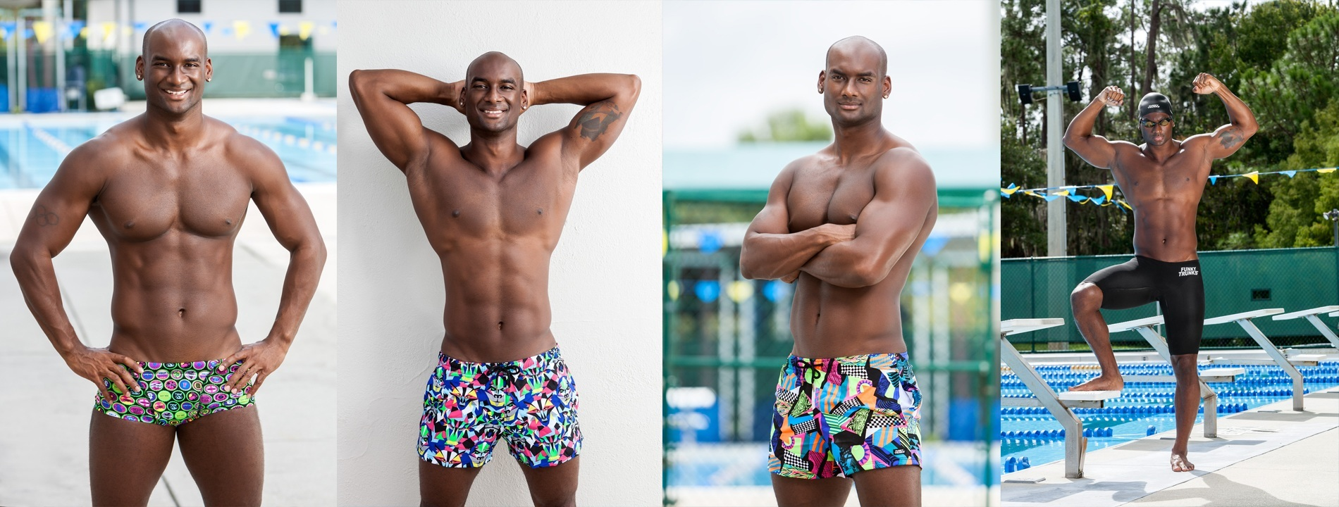 Caribbean Swimmer Elvis Burrows Signs with Funky Trunks
