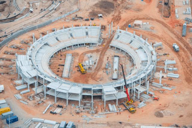 The Olympic tennis stadium. (Photo: Rio 2016/Alex Ferra)