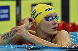 Sjostrom Breaks Two Meet Records on Day 1 of Swedish Championships