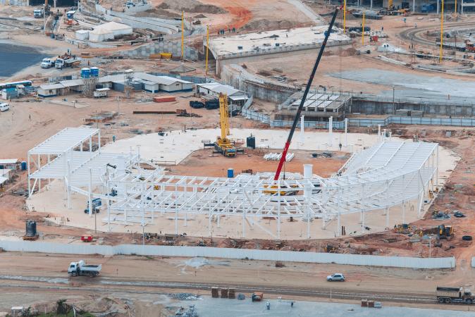 PHOTO VAULT: Walls Are Rising at 2016 Olympic Aquatics Stadium