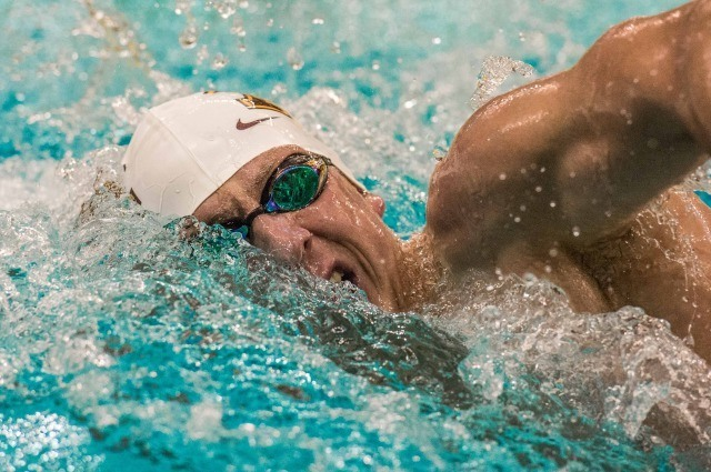 Ben Bravence in the B Final of the men's 200 free (photo: Mike Lewis, Ola Vista Photography)