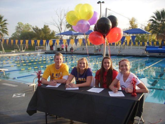 Here are 4 Sierra Marlins that signed today. Matt Klotz and Summer Spradley to LSU. Julienne Baynes-Tadena and Jordan Anderson to Utah.