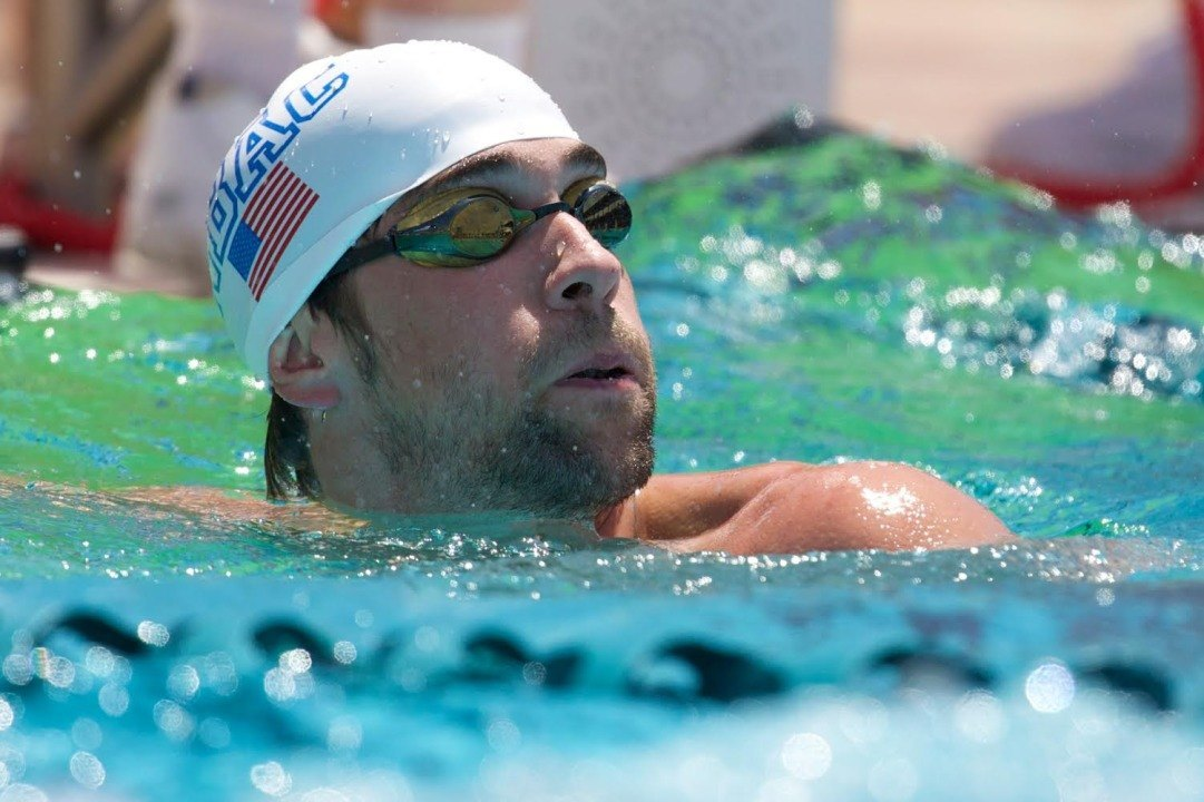 Michael Phelps enters 5 events including 400 free at Mesa Pro Swim, psych sheets here