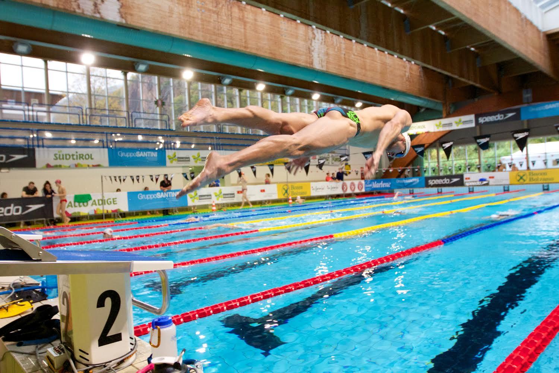 bolzano italy swim meet clip