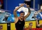 Mireia Belmonte celebrates her scm WORLD RECORD  (courtesy of FINA)