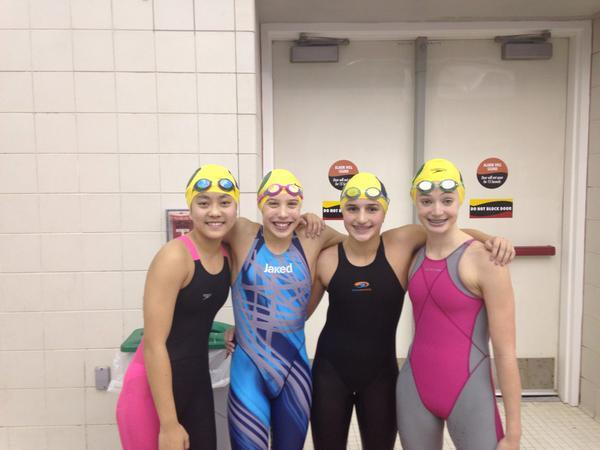 Delaware Swim Team breaks girls 11-12 NAG record in 400 yard free relay