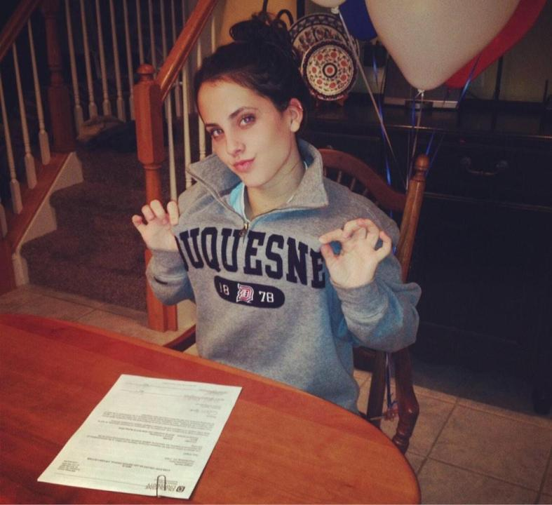 Versatile Abby Stauffer from Chambersburg, PA Signs to Duquesne