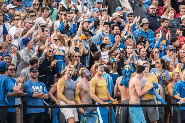 UCLA fans had lots to cheer about in UCLA's national title victory (photo: Mike Lewis, Ola Vista Photography)