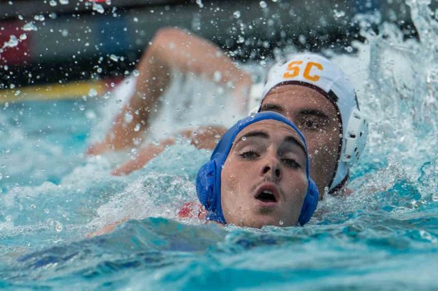 Keeping head above water in the hole set (photo: Mike Lewis, Ola Vista Photography)