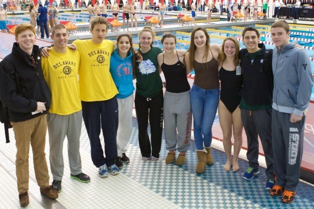 Delaware Swim Team (courtesy of rafael domeyko, rafaeldomeyko.com)