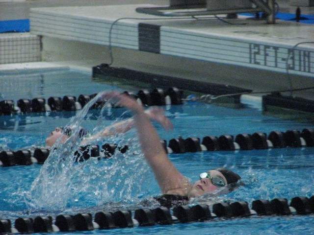 Girl's 50 Yard Backstroke: Gracie Cunningham of Sarpy County Swim Club representing Team Midwestern (Courtesy: Aidan Cho)