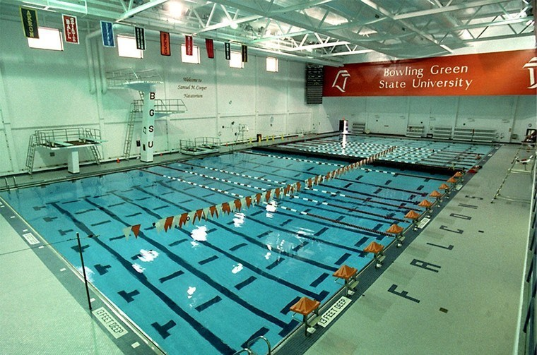 Bowling green state sweeps michigan state marshall at - University of michigan swimming pool ...