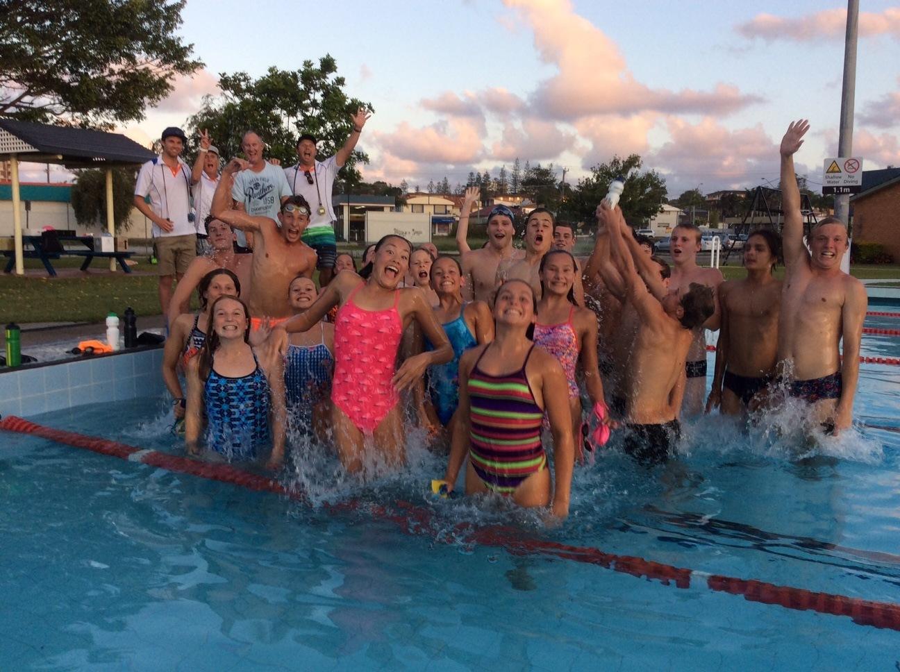 Carlile swimming club wraps up camp in port macquarie for Macquarie university swimming pool