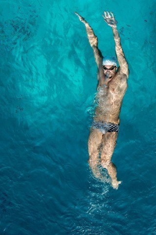 This is one of my favorite images of 2014.  This is Michael Phelps shot from the 10 meter platform at the Santa Clara Swim Center.  (photo: Mike Lewis, Ola Vista Photography)
