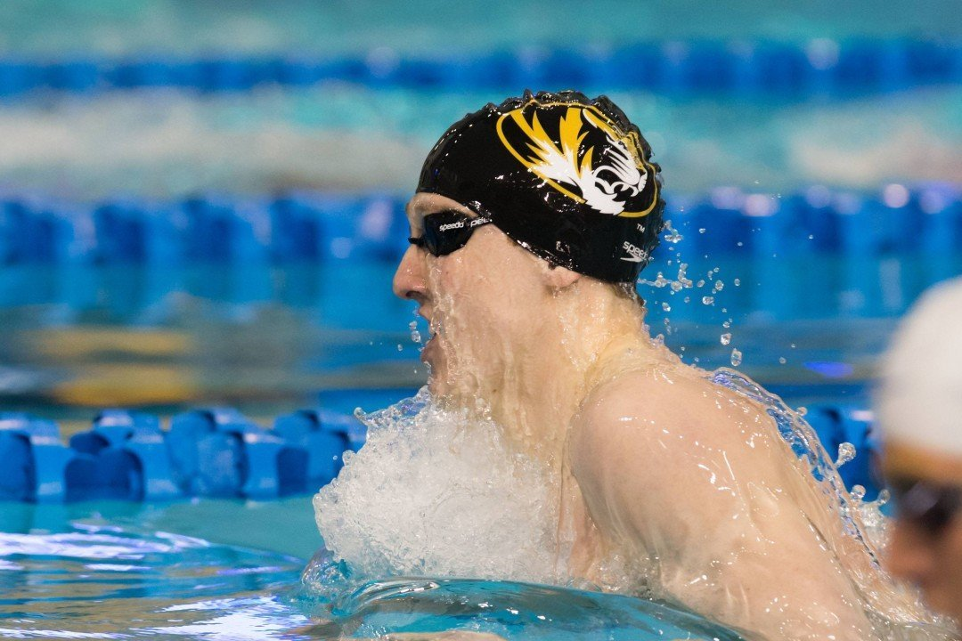 Missouri Sweeps Division II Champs Drury At Home Behind Tierney, Duncan Breaststrokes