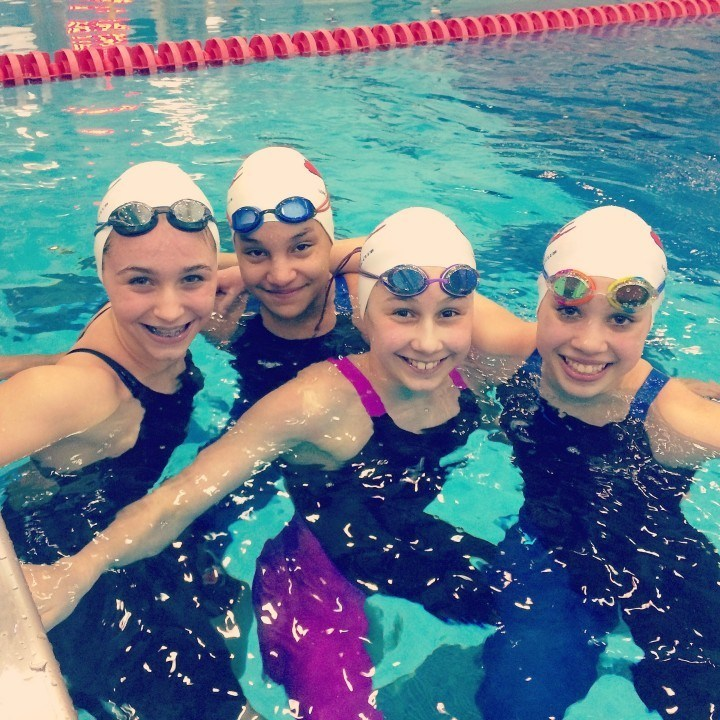 Long Island Aquatic Club Foursome Downs National Age Group Record in 11-12 400 Free Relay