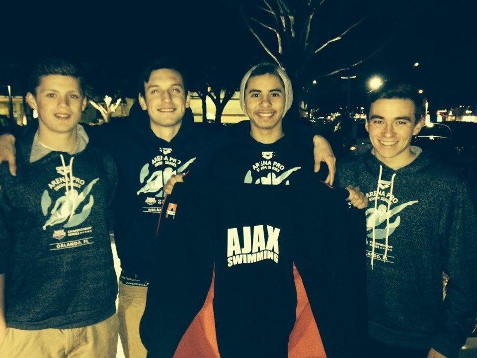 Ajax Aquatic Club Breaks Relay Record At Arena Pro Swim Series Orlando