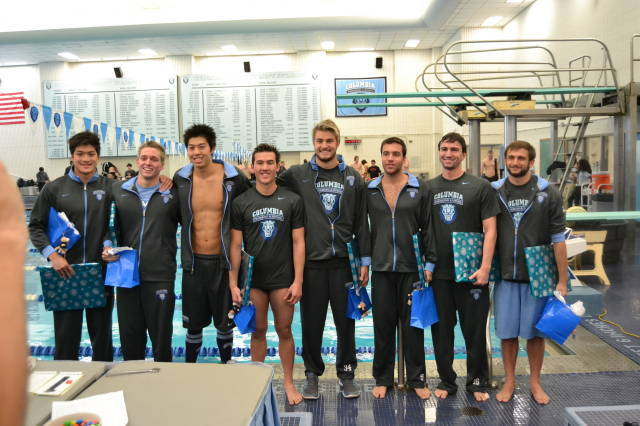 Records Fall As Columbia Men Defeat Princeton on Senior Night in Uris Pool