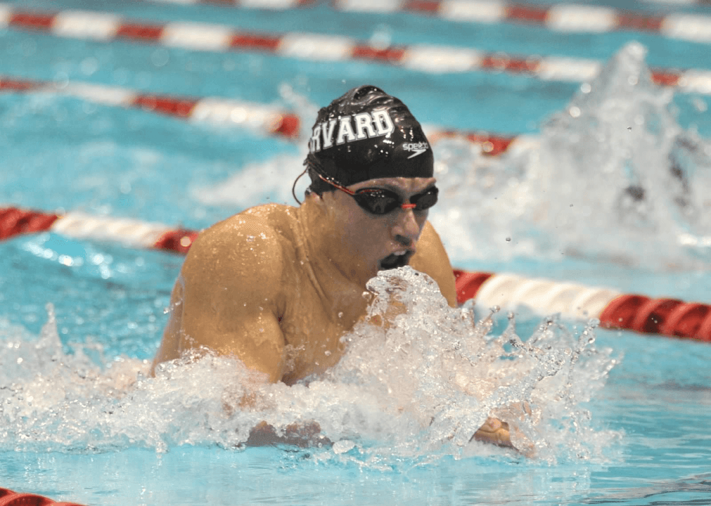 Harvard Men Win First-Ever Dual Meet with Bryant
