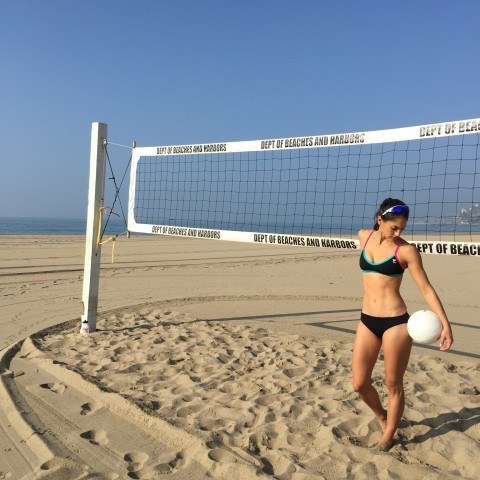 Now time for some beach volleyball!