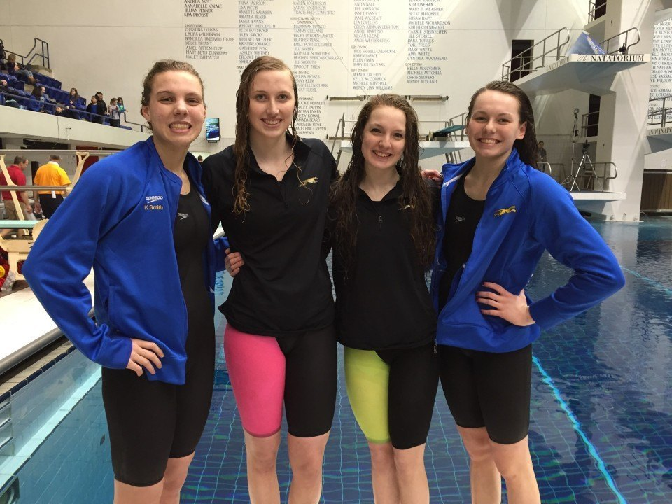 Carmel High School Girls Break 400 FR-R National HS Record By 6 Seconds… 3:15.38!!