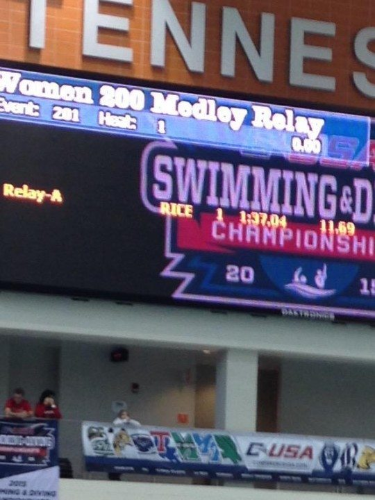 Rice Women Time Trial 200 Medley, Earn First NCAA Relay Qualification Since 2001