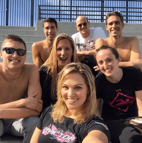 Team TYR taking a quick selfie before kicking off Day 1.