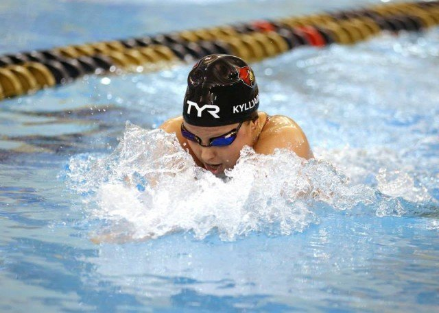 2015 ACC Swimmer of the Meet Tanja Kylliainen of Louisville. Courtesy of Todd Kirkland, theACC.com