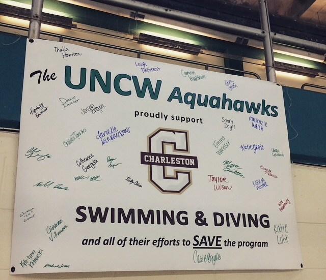 College of Charleston Concludes Its (Last?) Dual Meet Season at UNCW Quad Meet